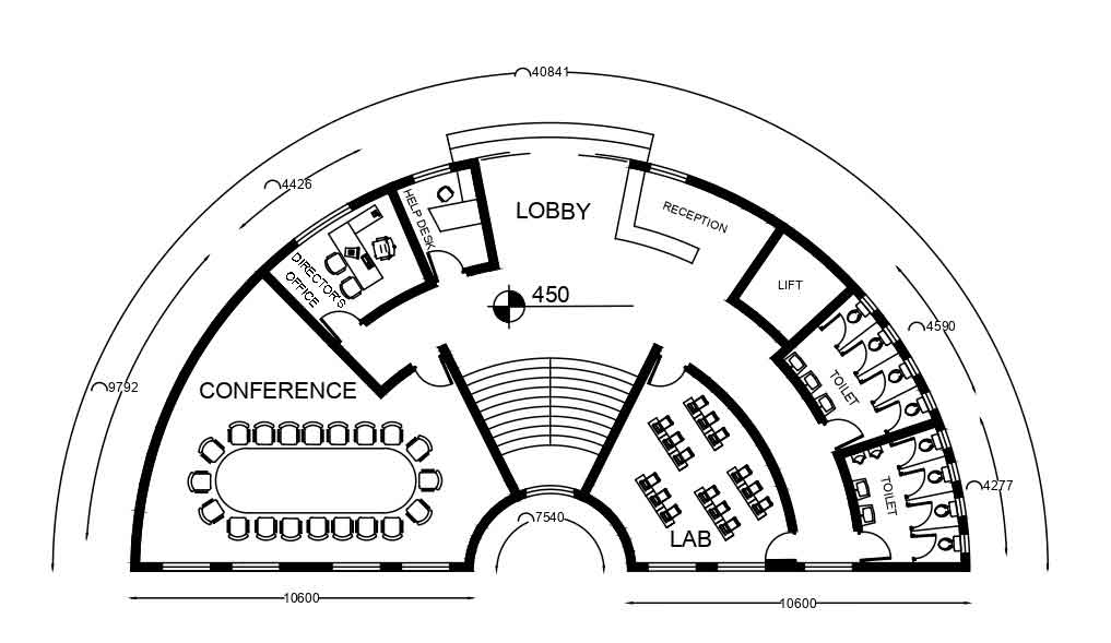 Library Admin Block Floor Plans And Section Details Built Archi